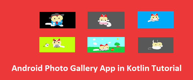 develop android image galery app using kotlin source code