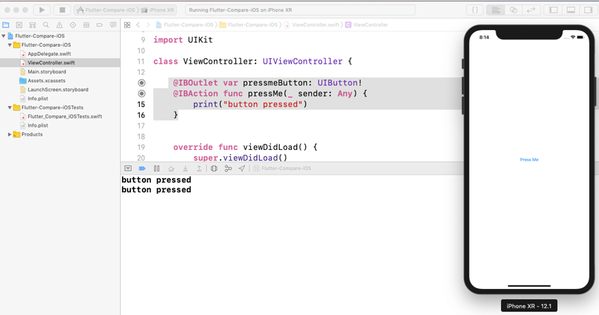 Flutter iOS Swift project in XCode